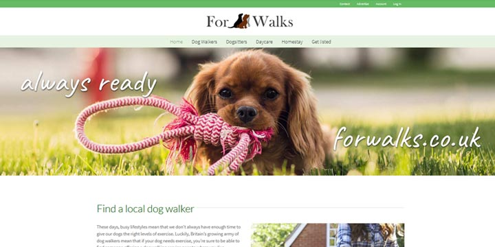 For walks - dog walker directory